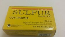 SULFUR SOAP-((BUY 1 GET 1 25 % OFF )) ACNE TREATMENT BARS-JABON AZUFRE 2.85 OZ.