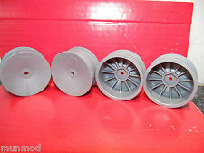 1/10 TOURING CAR  WHEELS SILVER/GREY 12MM HEX 4PCS TAMIYA,HPI,KYOSHO ETC