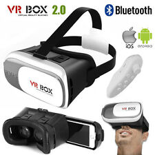 Upgraded 3D VR Glasses Virtual Reality Headset VR BOX 2.0 Goggles Glasses+Remote
