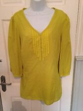 BNWT MARKS & SPENCER LIME GREEN 2 PIECE CAMISOLE AND TIE BACK BLOUSE SIZE 20