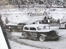 Vintage Nascar Hot Rod Modified Stock Car Dirt Track Racing Photo Print Picture