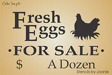 Lg STENCIL Fresh Eggs Sale Hen Nest Chicken Prim Country Farm Yard Road Signs