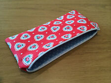 Handmade with Cath Kidston Sweetheart Fabric - Pencil/Make-Up/Glasses Case