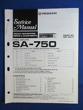PIONEER SA-750 INTEGRATED AMPLIFIER SERVICE MANUAL ORGINAL FACTORY ISSUE