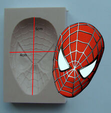 SILICONE MOULD SPIDERMAN MARVEL SUPERHERO ICING CAKE CARD TOPPER FIMO