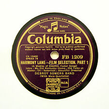 "DEBROY SOMERS BAND ""Harmony Lane - Selection"" (E+) COLUMBIA FB-1209 [78 RPM]"