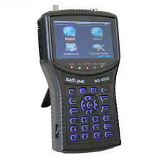 New Satlink WS-6939 Satellite Finder DVB-S DVB-T COMBO Satellite Meter Finder