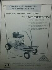 Jacobsen OLYMPIC 400 500 530 Lawn Riding Mower Tractor Owner & Parts Manual 20p