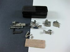 Rotary Metal Box Greist Sewing Attachments with Orig Packing Pamphlet VINTAGE