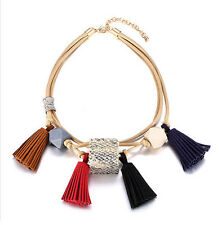 MARNI H&M Multi-color Tassel Pendant  Necklace
