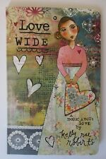 Love Wide whole heart shine bright faith in heart GIFT BOOK KELLY RAE ROBERTS