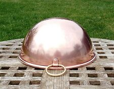 """Copper Cookware 8-1/2"""" Mixing/Whisking Bowl w/thick rolled rim, Made in England"""