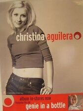 """MUSIC POSTER~Christina Aguilera Genie In A Bottle w/Perforation Orig. 18x24""""~NOS"""