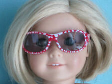 Great Stocking Stuffer!!  RED SUNGLASSES WITH WHITE SPECKS fits American Girl
