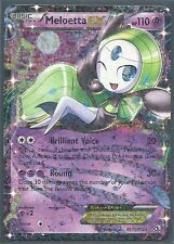 2x MELOETTA EX RC11 -Legendary Treasures RADIANT COL Pokemon Card-RARE HOLO MINT