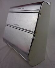 Vintage Garnerware Chrome Enamel Kitchen Dispenser Foil Wax Paper Towels Holder