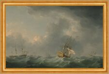 English Ships Running before a Gale Charles Brooking Schiffe Sturm B A3 01039