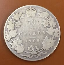 1905 Canada Half 50 Cent Coin Canadian Fifty Cents