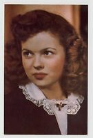 POSTCARD - Shirley Temple as young woman, movie film cinema actress, colour