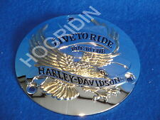Harley evo gold eagle live to ride derby cover shovelhead fxr softail touring