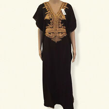 LIMITED TIME PRICE Moroccan kaftan Embroidery Maxi Batwing Dress, Abaya one size