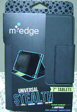 """New M-Edge Universal Stealth Case Cover for 7"""" Tablet Devices Black 457"""