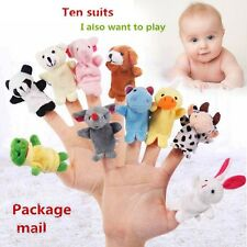 Family Finger Puppets Cloth Doll Baby Kids Educational Hand Animals Toy Story WT