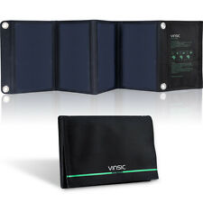 Vinsic 22W Solar Panel Charger Dual USB Outdoor Foldable Battery Power Bank Pack