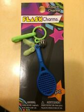 NEW Flash Charms Tennis Racket Shoes 1980's Plastic CLIP ON BELL CHARM Bracelet