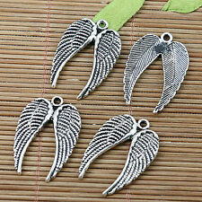 10pcs Tibetan silver plated angel wing charms EF2039