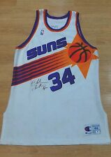 SIGNED CHARLES BARKLEY AUTHENTIC CHAMPION 1992-93 PHOENIX SUNS JERSEY AUTO GAI