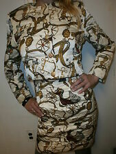 FB STUDIO QUILTED SKIRT SUIT Jacket Carriage Horse Buggy Reins Bridle vtg Tack