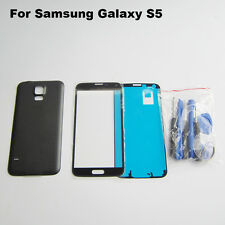Black front screen glass lens replacement for Samsung Galaxy S5 case tools