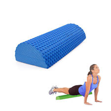 30cm Blue EVA Yoga Pilates Fitness Half Round Foam Roller W/ Floating Point ER