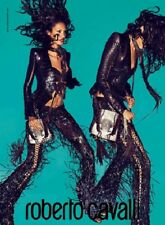 ROBERTO CAVALLI Runway 100% croco alligator leather corset