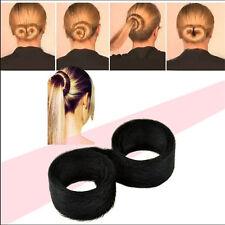 Woman Magic Hair Styling DIY Tool Donut Former Foam French Twist Bun Maker W1099