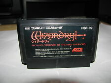 Wizardry I Proving Grounds of the Mad Overlord Famicom NES Japan import