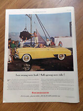 1948 Studebaker Convertible Ad Low-swung new Look! Soft-Sprung new Ride