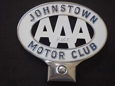 AAA NOS TOPPER LICENSE PLATE FRAME JOHNSTOWN