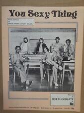 Foglio CANZONE è cosa Sexy Hot Chocolate 1975