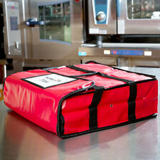 """NEW 18"""" x 18"""" x 5"""" Red Vinyl Insulated Pizza Delivery Bags 124PIBAG2VNL"""