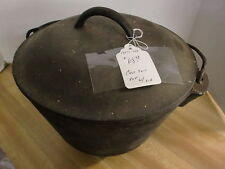 Cast Iron 3 Leg Cook Pot with Lid As Found Condition