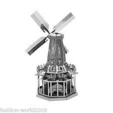 3D Metal Model Puzzle Nano Metallic Laser Cut Jigsaw Kid Toy- Holland Windmills