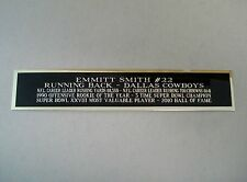 Emmitt Smith Dallas Cowboys Nameplate for a Football Jersey Display Case 1.5 X 6