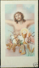 OLD FIRST COMMUNION REMEMBRANCE HOLY CARD ANDACHTSBILD SANTINI SEE MY SHOP C755