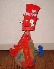 vintage MR MACHINE moving walking whistling toy WORKS wind robot gears steampunk