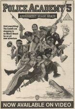 11/2/89Pgn23 Advert: On Video 'police Academy 5. Assig Nt Miami Beach' 7x5