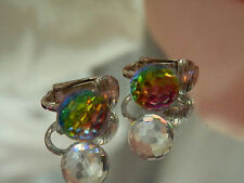Very Pretty Vintage 1980's Aurora Disco Ball Earrings-Cool  151n