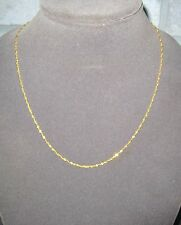 "LQQK Delicate Real 22k Yellow Gold Singapore Chain Necklace 20.5"" long Women"