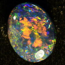 LOTS OF REDS FIERY NATURAL SOLID AUSTRALIAN LIGHTNING RIDGE BLACK OPAL 13729